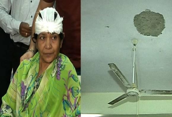 Mumbai : Woman hurt as ceiling slab collapses at Andheri railway station