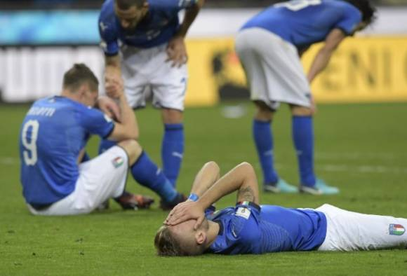 for the first time in 60 years football history, italy fail to qualify for FIFA world cup