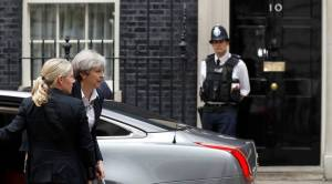 Britain's Prime Minister, Theresa May, arrives at 10 Downing Street, in central London, Britain June 16, 2017.  REUTERS/Peter Nicholls
