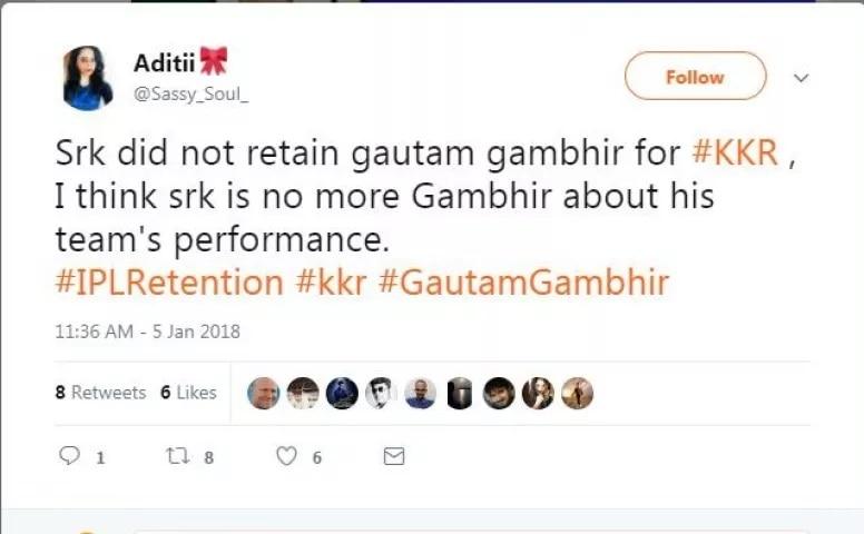 5-KKR_did_not_retained_Gautam_Gambhir