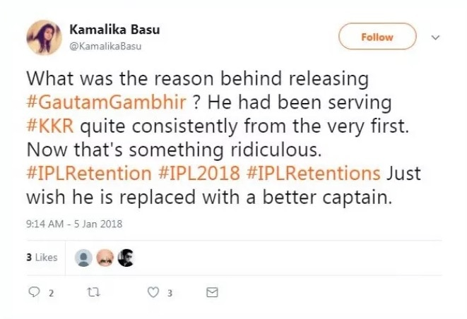 8-KKR_did_not_retained_Gautam_Gambhir