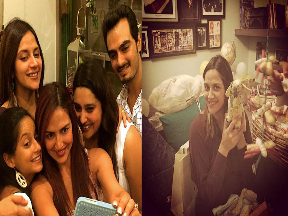 pictures esha deol hosts baby shower for sister ahaana filmymonkey