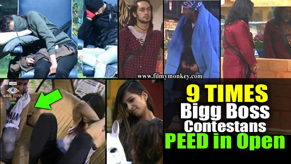 9 Contestans in 'Bigg Boss' history who PEED in Open!