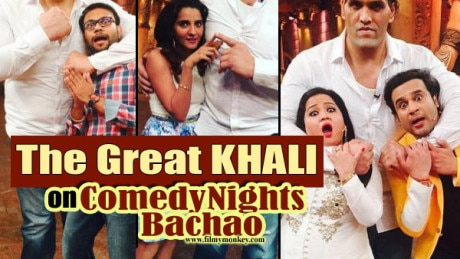 PICS: The Great Khali on 'Comedy Nights Bachao'; Farah Khan also joins! SEE FUNNY MOMENTS!