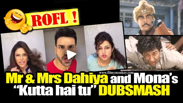 WATCH: Divyanka's FIRST DUBSMASH with Vivek on the sets of 'Kawach' will leave you ROFLing!