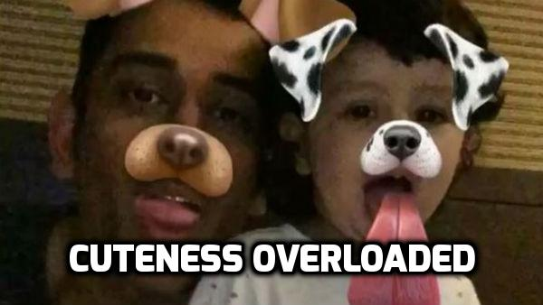 WATCH: MS Dhoni and Baby Ziva's SNAPCHAT VIDEO is an epitome of CUTENESS!