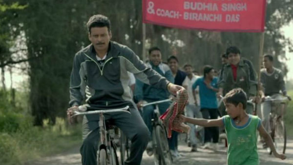 Ahead of 'Budhia Singh' release Manoj Bajpayee distributes 1,000 pairs of shoes to students