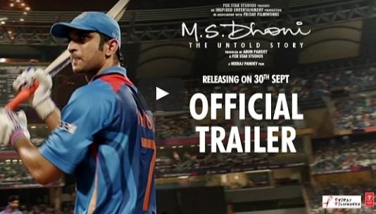 M.S. DHONI TRAILER OUT! Sushant hits a sixer playing Mahendra Singh Dhoni; WATCH IT!