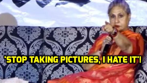 WATCH: Jaya Bachchan LASHES OUT at photographers at a college fest!