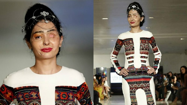 PICS & VIDEO: Indian teen who lost an eye in ACID ATTACK dazzles at the New York Fashion Week!