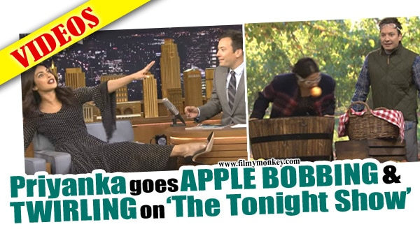 The Tonight Show: Priyanka Chopra beats Jimmy Fallon in Apple Bobbing game & goes Twirling; 'Quantico 2' promotion becomes a laugh riot