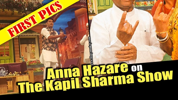 FIRST PICS of Anna Hazare on 'The Kapil Sharma Show'; Promoting his upcoming biopic!