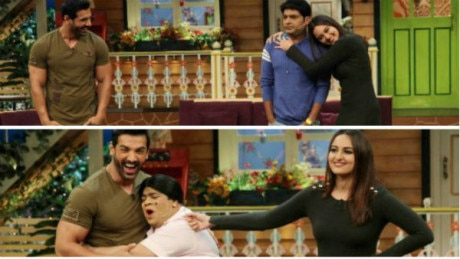 John Abraham, Sonakshi Sinha have CRAZY FUN promoting 'Force 2' on 'The Kapil Sharma Show; SEE PICS!