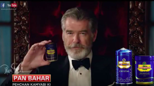 OMG! WATCH Pierce 'James Bond' Brosnan in PAN MASALA ad; Twitter goes CRAZY with HILARIOUS MEMES!