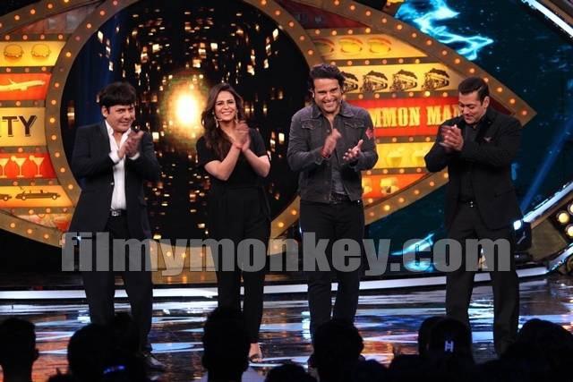 Salman Khan with Krushna, Sudesh & Mona in 'Bigg Boss 10'