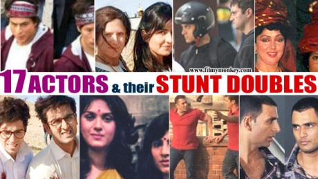 17 Bollywood Actors with their STUNT DOUBLES…from Hema Malini to SRK, Salman, Aamir…!