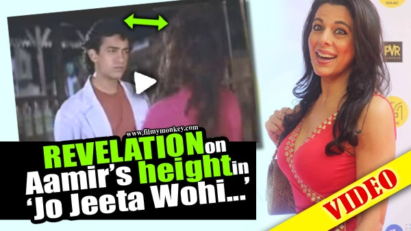 VIDEO! Jo Jeeta Wohi Sikander REUNION: Aamir Khan CLAPS as PoojaBedi REVEALS he stood onboxes to match up to her height