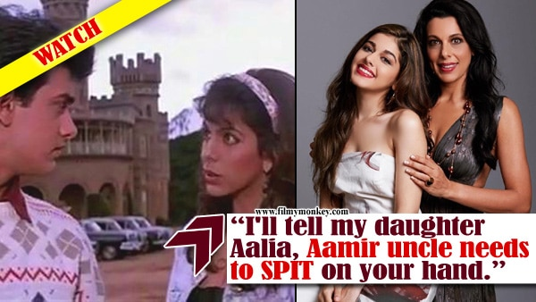 Why does Pooja Bedi want Aamir Khan to SPIT on her daughter Aalia Furniturewala's hand ?