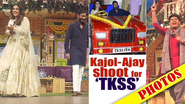 PHOTOS: Ajay Devgn and Kajol shoot Diwali Special for 'The Kapil Sharma Show'; Couple promotes 'Shivaay' together!