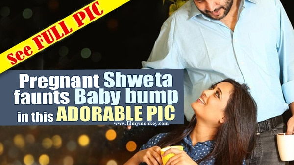 NEW PIC: Shweta Tiwari flaunts baby bump with hubby Abhinav Kohli & the 'trio' looks absolutely adorable!