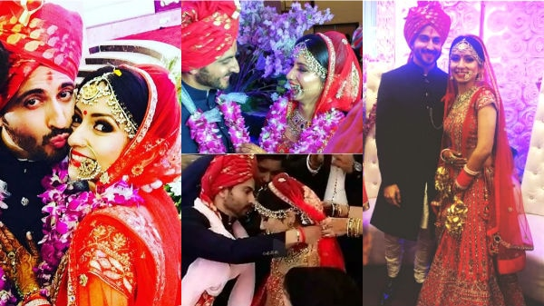 CHECK OUT: 'Sasural Simar Ka' actor Dheeraj Dhoopar MARRIES girlfriend in a Big Fat Punjabi Wedding; Here's the complete WEDDING ALBUM!