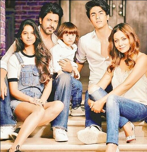 New pics srk gauri khan family photoshoot for a book with abram