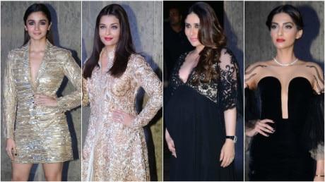 PHOTOS: Alia, Kareena, Sonam look STUNNING at Manish Malhotra's Birthday Bash hosted by Karan Johar!