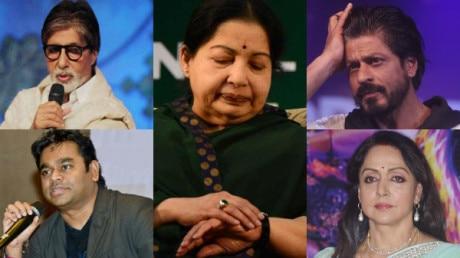 Amitabh Bachchan to Shah Rukh Khan, B-Town mourns Jayalalithaas death: RIP Amma