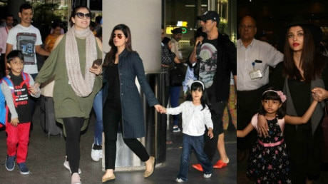 SEE PICS: Akshay Kumar, Ajay Devgn & other Bollywood celebs SPOTTED with their KIDS as they return from new year vacations!
