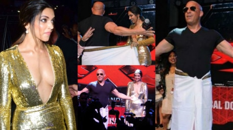 SEE PICS: Deepika Padukone redefines HOTNESS in her BOLD golden outfit as she GROVES to 'lungi dance' with Vin Diesel!