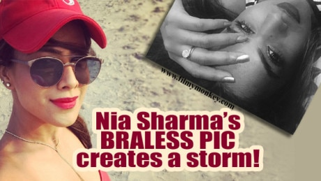 Nia Sharma goes BRALESS & flashes her SIDE B**B in latest PIC; Fans SLAM the TV actress!