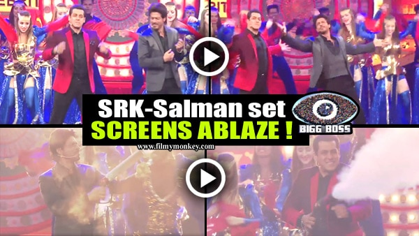 Bigg Boss 10: SRK & Salman Khan DANCE together on each others' HITS..! This will set your screens ABLAZE! Watch!