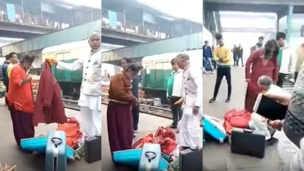 OMG!Om Swami CAUGHT changing clothes at Delhi Railway Station: WATCH VIDEO INSIDE