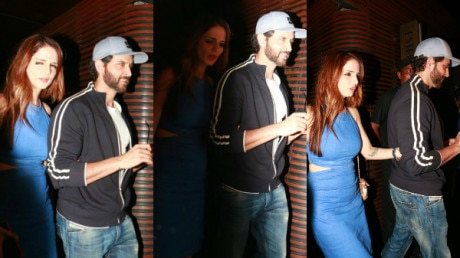 PHOTOS: Sussanne Khan SPOTTED walking hand-in-hand with EX husband Hrithik Roshan after DINNER with friends!