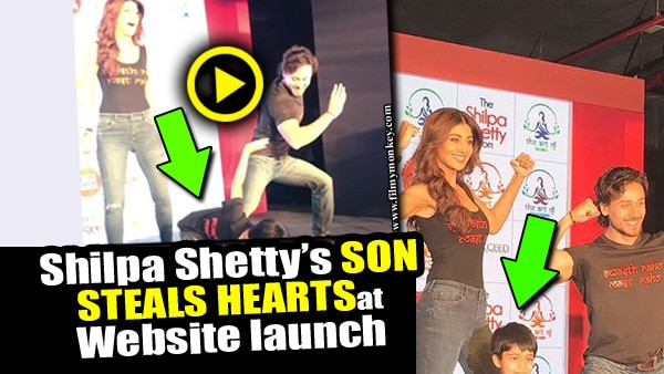WATCH Shilpa Shetty Kundra's son Viaan with Tiger Shroff at her website launch; ADORABLE VIDEO!