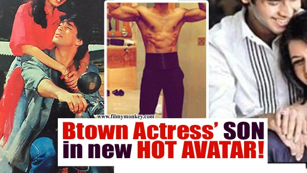 Bhagyashree's son Abhimanyu Dassani flaunts his 6 pack abs in a new HOT avatar!