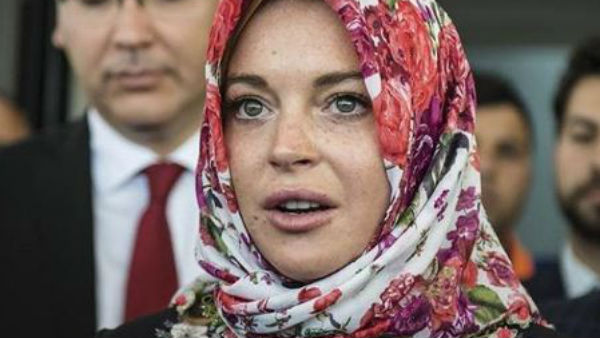 Lindsay Lohan was 'racially profiled' for wearing headscarf at London Airport!