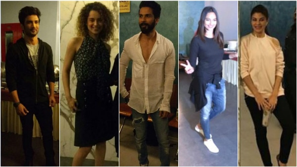 PHOTOS: Shahid, Kangana, Sushant, Sonakshi, Jacqueline & others at 'Rangoon' special screening!
