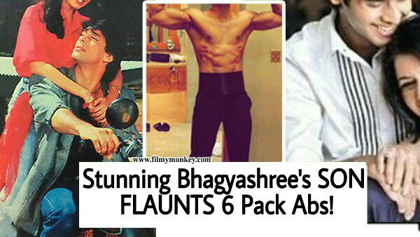 'Maine Pyar Kiya' actress Bhagyashree's son shows off body on his Birthday!
