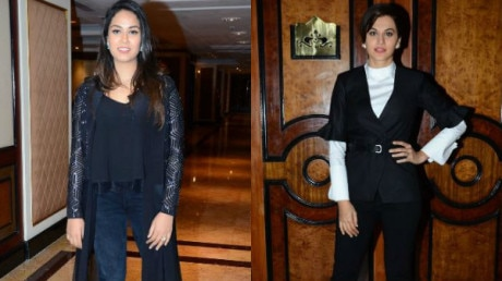 Mira Rajput and Taapsee Pannu at their fashionable best at an event!