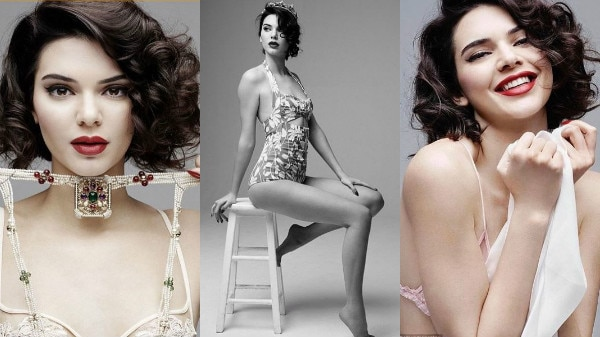 Kendall Jenner flashes her ni****s in a sheer bra in Marilyn Monroe-inspired shoot!