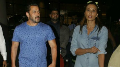Salman Khan , Iulia Vantur & the entire Khan family head home after after celebrating Ahil's first b'day!
