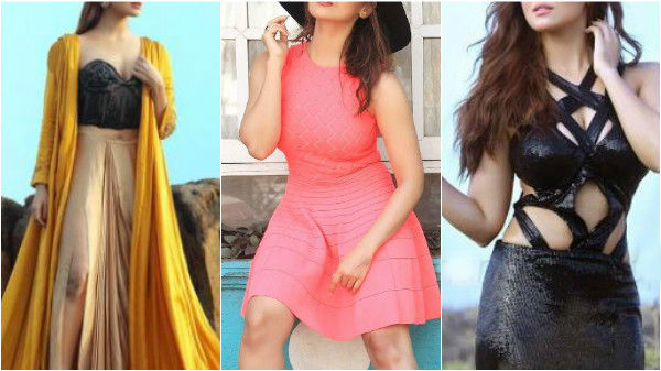Actress & 'Bigg Boss' contestant Sana Khan scorch up the temperature in latest photoshoot pics!