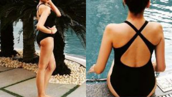 IN PICS: Bigg Boss 10 contestant Nitibha Kaul sizzles in a black swimsuit while CHILLING in a pool!