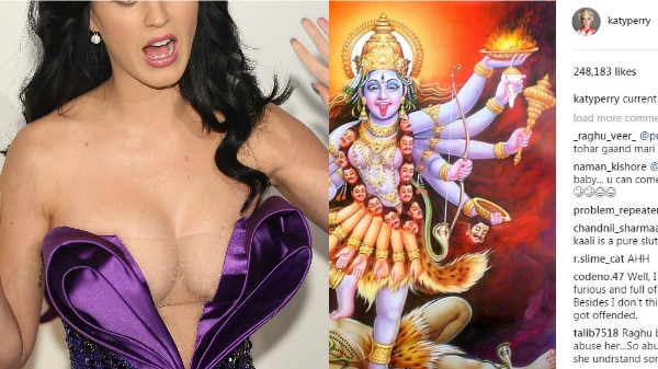 Indian fans BLASTS international POP queen Katy Perry after she posts Goddess Kali's pic to express her 'current mood'!