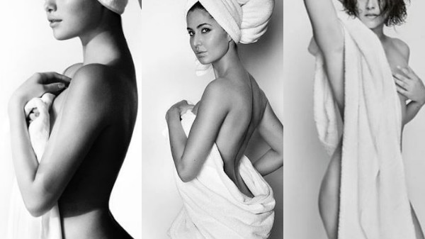 Katrina Kaif Stars in INTERNATIONAL fashion photographer Mario Testino's iconic Towel series that includes TOP Hollywood beauties Selena Gomez, Kendall Jenner & Gigi Hadid