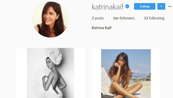 WOAH! Katrina Kaif debuts on Instagram & scores ONE MILLION followers in just 24 hours!