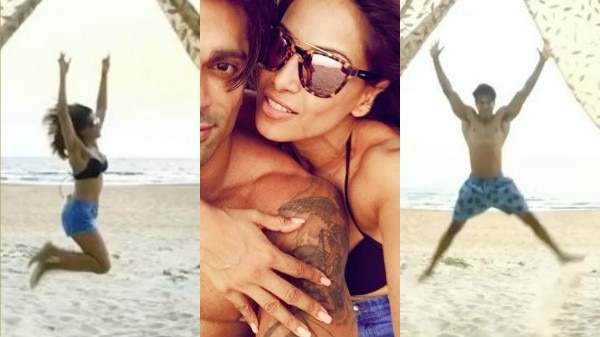 CHECK OUT: Bipasha Basu & Karan Singh Grover celebrate their first WEDDING ANNIVERSARY in their own monkey styled love!