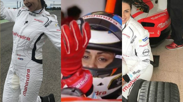 PICS & VIDEO: Actress Gul Panag creates HISTORY, becomes FIRST Indian woman to drive Formula E racing car at a racetrack!