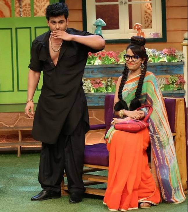 Sugandha with Sanket Bhosale on 'TKSS' (Photo: Sony TV)